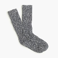 J.Crew Marled Cotton Socks Navy