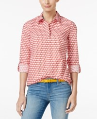 Charter Club Elephant Print Shirt Only At Macy's Paprika Combo