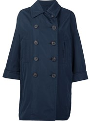 Brunello Cucinelli Oversized Double Breasted Coat Blue
