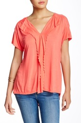 Gibson Scallop Tee Pink