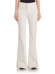 Derek Lam Unbleached Denim Wide Leg Pants White