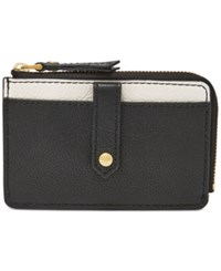 Fossil Keely Card Case Black White