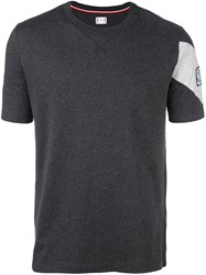 Moncler Gamme Bleu Logo Patch T Shirt Grey