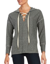 Design Lab Lord And Taylor Cross My Heart Hoodie Heather Gray