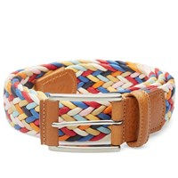 Andersons Anderson's Waxed Canvas Woven Belt Multi