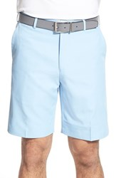 Men's Big And Tall Peter Millar 'Salem' Flat Front Performance Shorts Cottage Blue