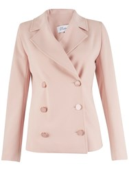 Closet Double Breasted Jacket Pale Pink