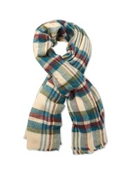 White Stuff Cara Check Midweight Scarf Multi Coloured