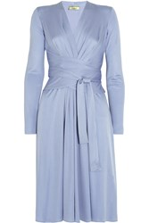 Issa Silk Jersey Dress Light Blue