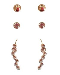 Cara Accessories Stud And Drop Earrings Set Of 3 Pairs Compare At 28 Gold Crystal
