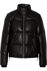 Alexander Wang Quilted Leather Down Jacket Black