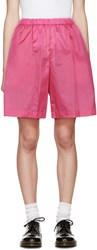 Comme Des Garcons Girl Pink Nylon Shorts
