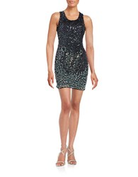 M By Mac Duggal Ombre Sequin Shift Dress Black Ombre