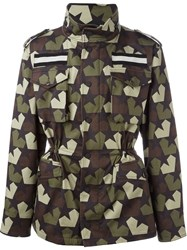 Ports 1961 Star Camouflage Jacket Green