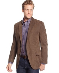 Tasso Elba Classic Fit Microsuede Sport Coat Only At Macy's Brown