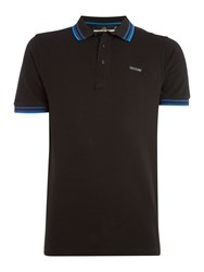 Duck And Cover Acute Classic Signature Pique Polo Shirt Black