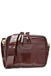 Rag And Bone Patent Leather Shoulder Bag Red