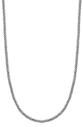 Women's Lagos Sterling Silver Caviar 3Mm Rope Necklace Sterling Silver
