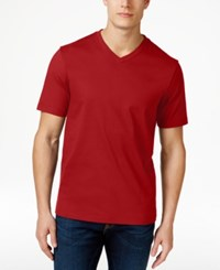 Club Room Men's Cotton V Neck T Shirt Only At Macy's Fire