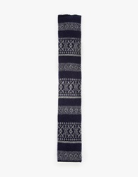 Engineered Garments Fair Isle Cashmere Knit Tie Dk.Navy Grey