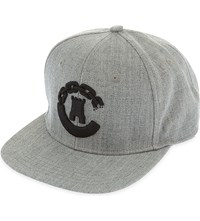 Crooks And Castles Castle Chain Snapback Cap Speckle Grey