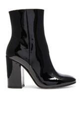 Gianvito Rossi Patent Leather Rolling High Booties In Black