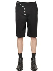 Versus Diagonal Buttons Cool Wool Shorts
