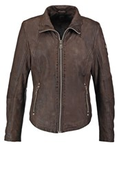 Gipsy Elya Leather Jacket Olive