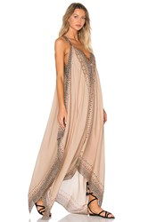 Free People Merida Printed Maxi Dress Tan