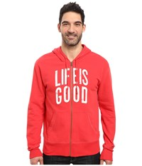 Life Is Good Go To Zip Hoodie Simply Red Men's Sweatshirt