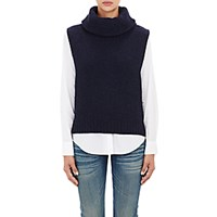 Barneys New York Women's Wool Cashmere Cowl Neck Sweater Navy