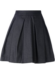 Mcq By Alexander Mcqueen Pleated A Line Skirt Blue