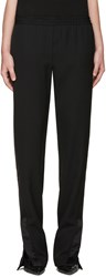 Givenchy Black Satin Trimmed Lounge Pants