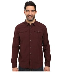 Prana Rollin Shirt Dark Umber Men's Short Sleeve Button Up Brown
