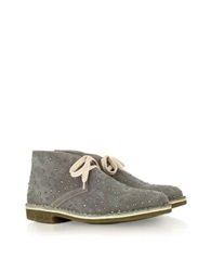 Loriblu Gray Suede And Crystal Boots