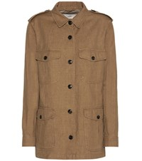 Closed Blade Cotton And Linen Jacket Brown
