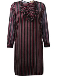 No21 Striped Longsleeved Dress Red