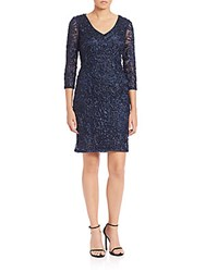 Sue Wong Embroidered And Beaded Dress Navy