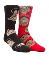 40'S And Shorties Biggie Baby And Ice Cream Socks Red