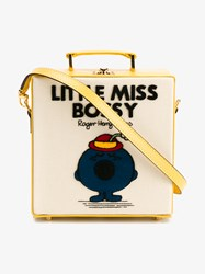 Olympia Le Tan Little Miss Bossy Shoulder Bag Multi Coloured Yellow Tan Beige White