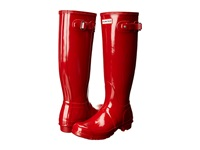 Hunter Original Gloss Military Red Women's Rain Boots Tan