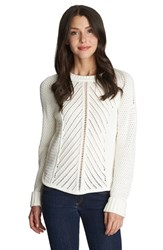 Women's 1.State Loose Knit Crewneck Sweater New Ivory
