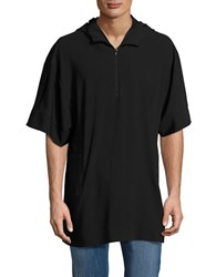 Laboratory Lt Man Poncho Top Black