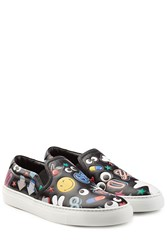 Anya Hindmarch Leather All Over Sticker Skater Multicolor