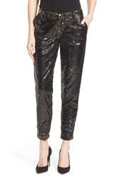 Women's Cj By Cookie Johnson Sequin Ankle Pants Black Bronze