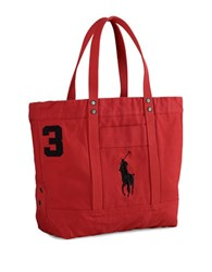 Polo Ralph Lauren Big Pony Canvas Tote Park Ave Red