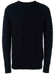 Barbour Heritage 'Barnard' Crew Neck Jumper Blue