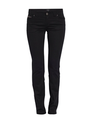 Morgan Bootcut Jeans With Glitter Detail Black