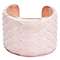 Charles And Perry Snake Skin Signature Cuff Pink