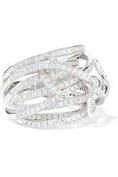 Stephen Webster Forget Me Knot 18 Karat White Gold Diamond Ring